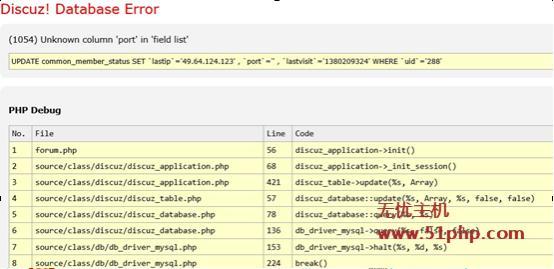 dz11 Discuz升级3.0时出现的(1054) Unknown column port in field list 之解决方法