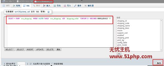 ecshop操作数据库提示报错unknown