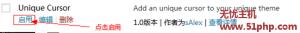 wp 11 11 2 300x33 教你一分钟改变Wordpress鼠标样式图文方法
