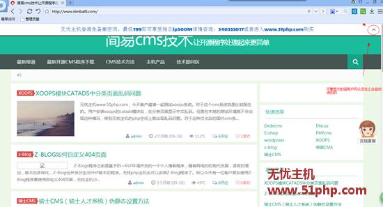 wordpress实现顶部公告条方法