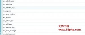 ec 4 23 4 300x125 Ecshop程序使用三种方法快速查看安装数据表前缀