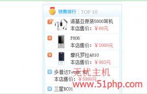 ecshop程序怎么在销售排行榜上显示销售商品的数量