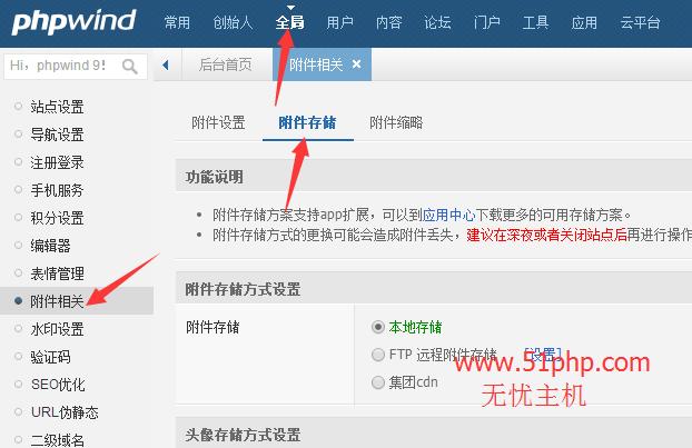 2 phpwind后台功能之附件相关介绍