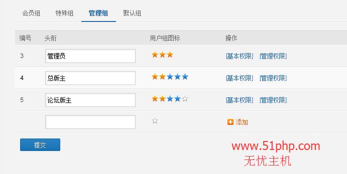35 phpwind后台功能之用户组权限介绍