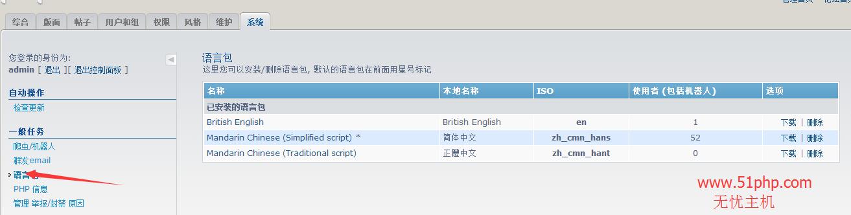 117 phpbb后台功能介绍  语言包