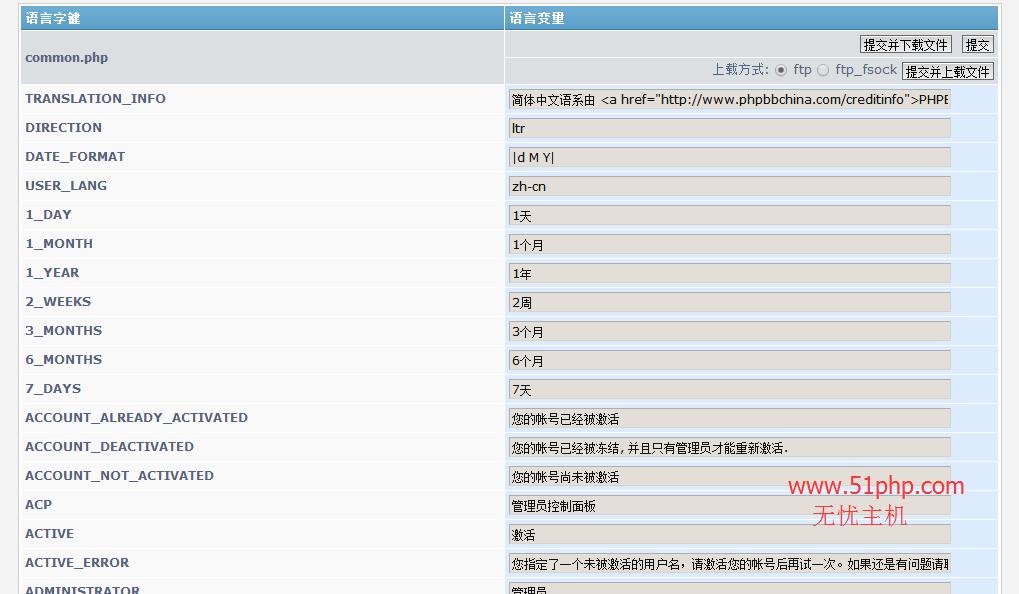 210 phpbb后台功能介绍  语言包
