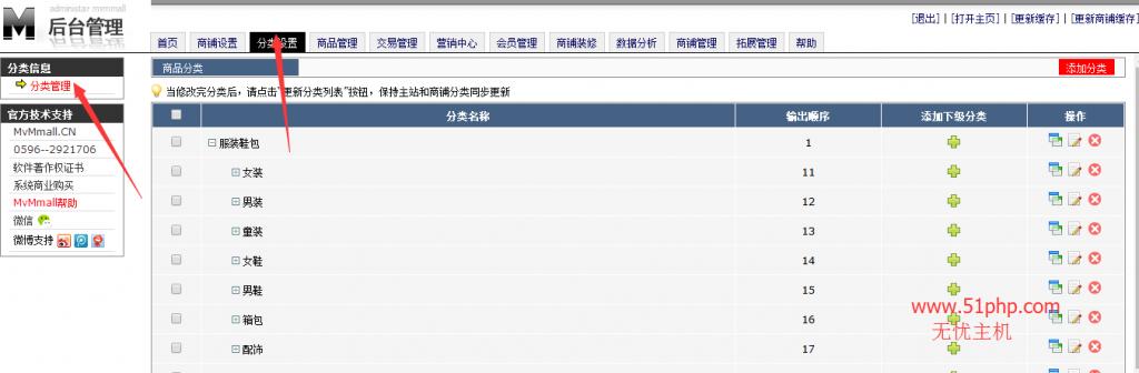 110 1024x336 MvMmall后台功能介绍  分类管理