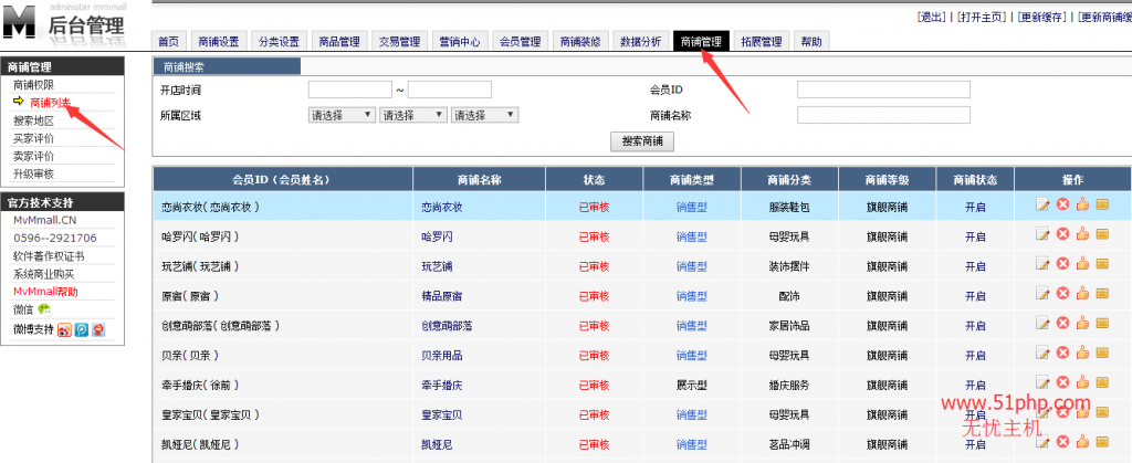11 1024x419 MvMmall后台功能介绍  商铺列表